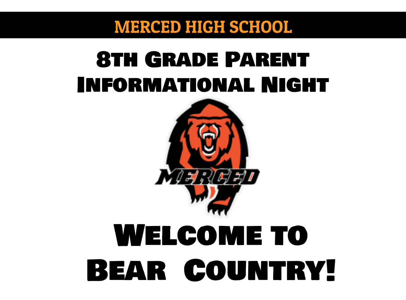 8th Grade Parent Informational Night